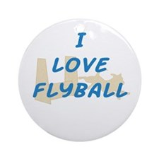 Love Flyball Ornament (Round)