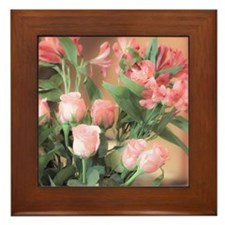 Rose Bouquet 2 Framed Tile