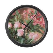 Rose Bouquet 2 Large Wall Clock