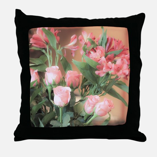 Rose Bouquet 2 Throw Pillow