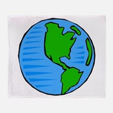 globe planet earth.png Throw Blanket