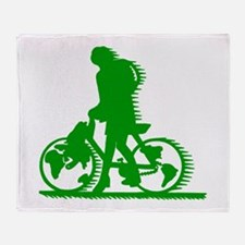 bicycle to save the planet.png Throw Blanket