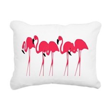 Flamingos Rectangular Canvas Pillow