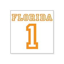 """FLORIDA #1 Square Sticker 3"""" x 3"""""""