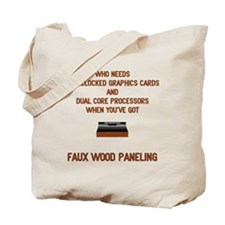 Faux Wood Power Tote Bag