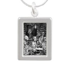 Founding Fathers Silver Portrait Necklace