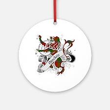 Sinclair Tartan Lion Ornament (Round)
