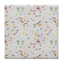 Colored Sprinkles Tile Coaster