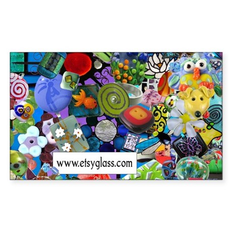Etsy Glass Artists Rectangle Sticker