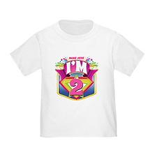 Pink Superhero 2nd Birthday T