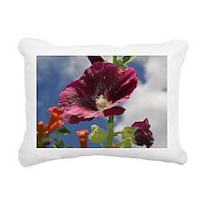 Hollyhock Rectangular Canvas Pillow
