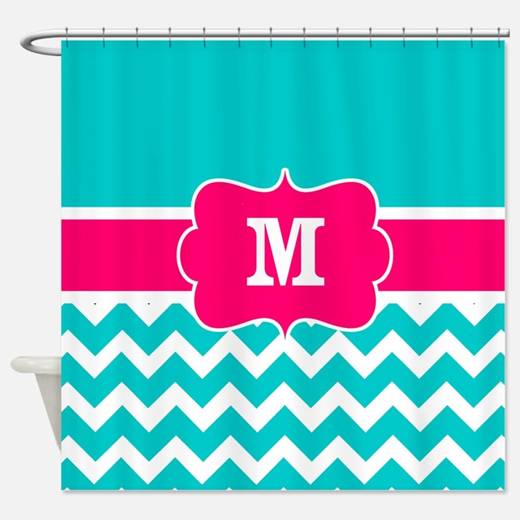 Chevron Teal And White Zig Zag Shower Curtains Chevron Teal And White Zig Z