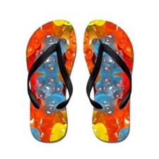 cute candy colorful modern trendy Flip Flops