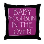 Yogi-Bun in Oven Throw Pillow