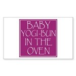Yogi-Bun in Oven Rectangle Sticker