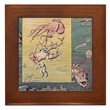 Mermaid and Octopus Framed Tile