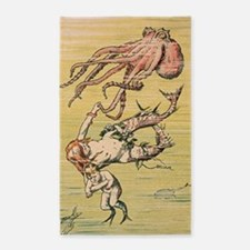 Mermaid and Octopus 3'x5' Area Rug