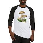 Snail in Mushroom Garden Baseball Jersey