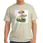 Snail in Mushroom Garden Light T-Shirt