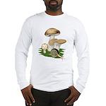 Snail in Mushroom Garden Long Sleeve T-Shirt