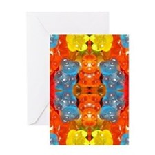 cute candy colorful gummy bear Greeting Cards