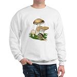 Snail in Mushroom Garden Sweatshirt