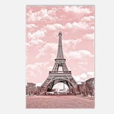 Eiffel Tower in pink Postcards (Package of 8)