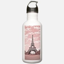 Eiffel Tower in pink Water Bottle