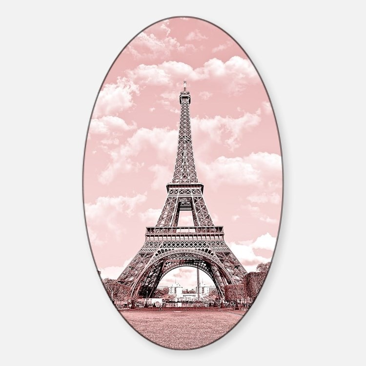 Eiffel Tower in pink Decal