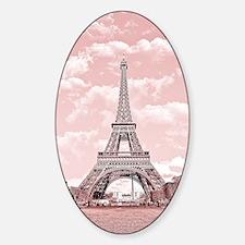 Eiffel Tower in pink Sticker (Oval)