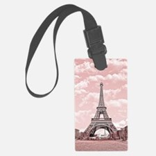 Eiffel Tower in pink Luggage Tag