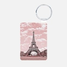 Eiffel Tower in pink Keychains