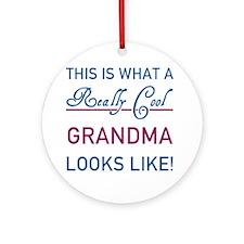 Really Cool Grandma Round Ornament