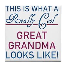 Really Cool Great Grandma Tile Coaster