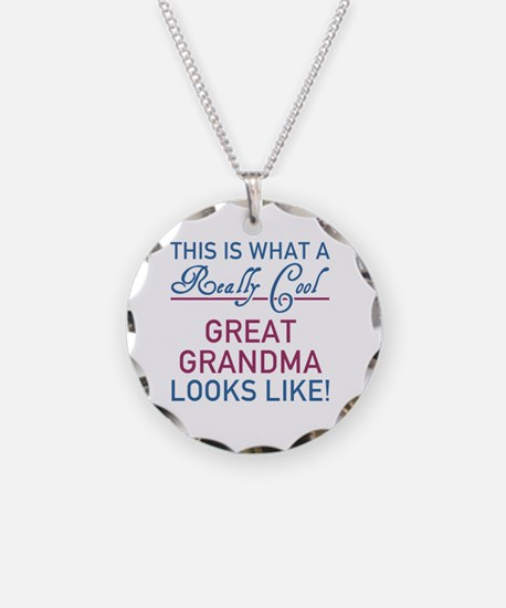 Really Cool Great Grandma Necklace Circle Charm