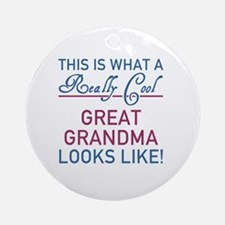 Really Cool Great Grandma Round Ornament