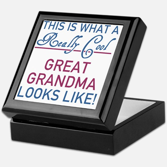 Really Cool Great Grandma Keepsake Box
