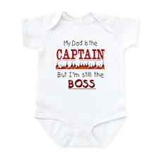 Dad is CAPTAIN Infant Bodysuit
