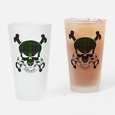 Shaw Tartan Skull Drinking Glass