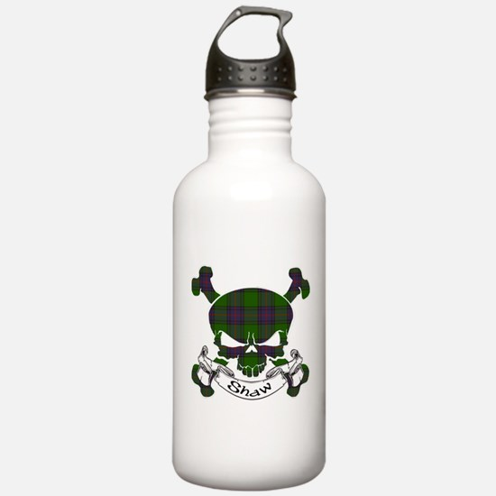 Shaw Tartan Skull Sports Water Bottle