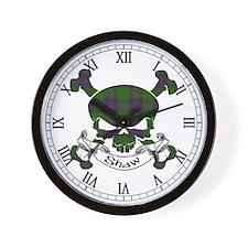 Shaw Tartan Skull Wall Clock