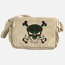 Shaw Tartan Skull Messenger Bag