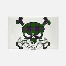 Shaw Tartan Skull Rectangle Magnet