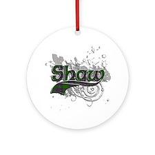 Shaw Tartan Grunge Ornament (Round)