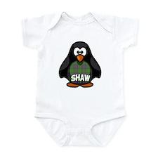 Shaw Tartan Penguin Infant Bodysuit