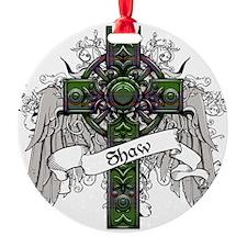 Shaw Tartan Cross Ornament