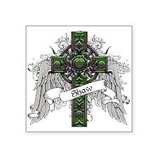 """Shaw Tartan Cross Square Sticker 3"""" x 3"""""""