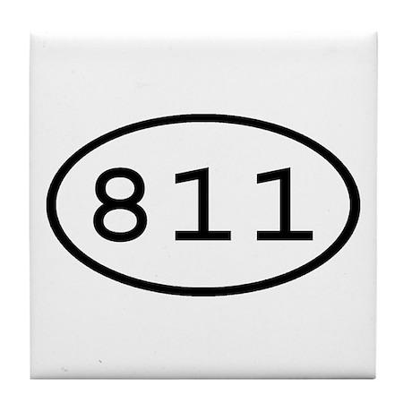 811 Oval Tile Coaster