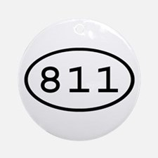 811 Oval Ornament (Round)