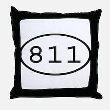 811 Oval Throw Pillow